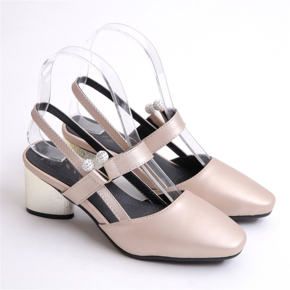 Shoe Miss 519 Square Head and Fashion Casual Shoes - GOLDEN 32