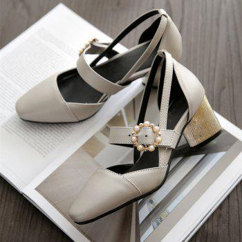 Miss Shoe 520 Square Head and High Heel Sandals - SILVER 32