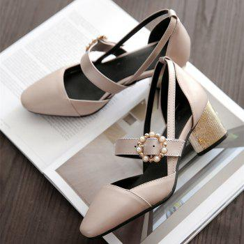 Miss Shoe 520 Square Head and High Heel Sandals - GOLDEN 33