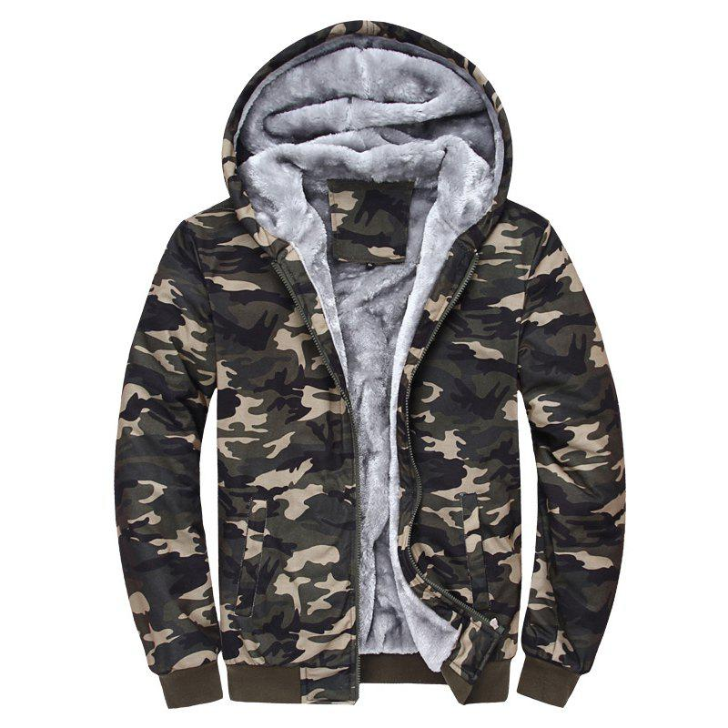 Young Men'S Sweater Camo S Casual Cashmere Coat with Thickened Hooded Cardigan young entrepreneur s gude to s