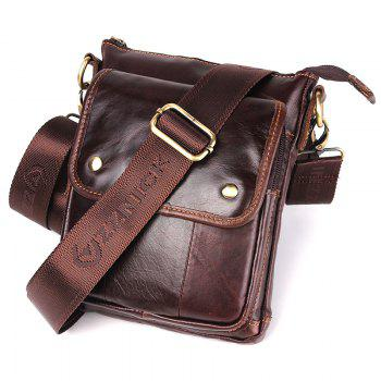 Luxury Handbags Men Bags Designer Crossbody Bags for Men Geunine Leather Bag Wax Oil Skin - BROWN