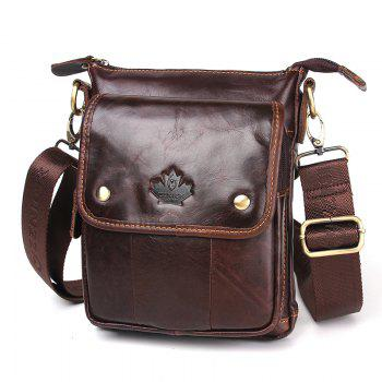 Luxury Handbags Men Bags Designer Crossbody Bags for Men Geunine Leather Bag Wax Oil Skin - BROWN BROWN