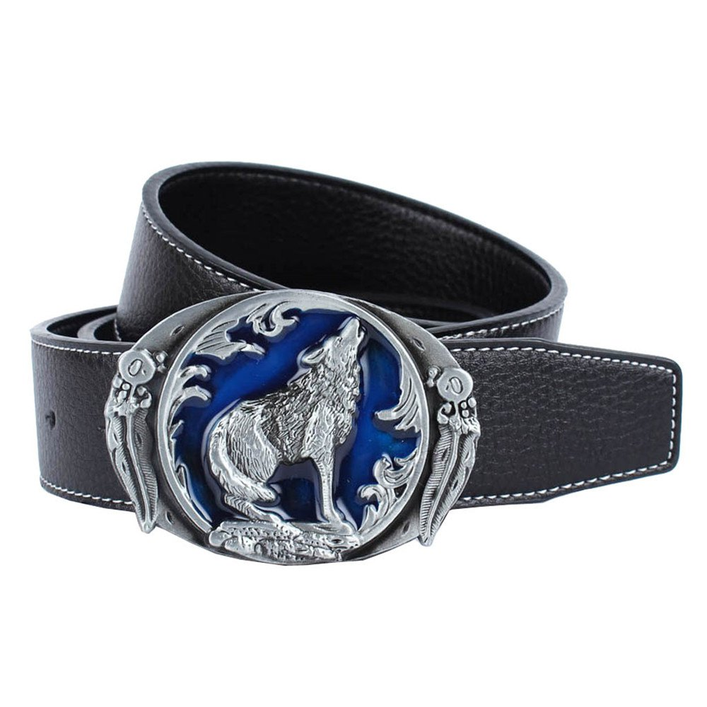 Wolf Belt Leather - BLACK LEATHER BAND