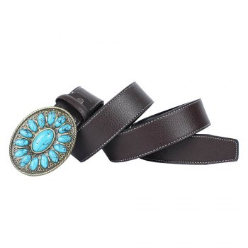 Ceinture en cuir de Bohême - café LEATHER BAND
