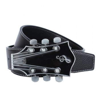Guitar Belt Leather - BLACK BLACK
