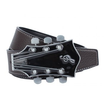 Guitar Belt Leather - COFFEE COFFEE