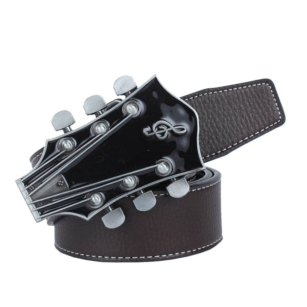 Guitar Belt Leather - COFFEE LEATHER BAND