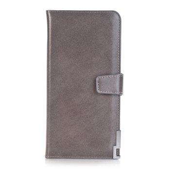 purse Pure Passport Cover Large Fresh Capacity Business Card Holder Natural Wallets for Female Useful Long-Lived Purse - GRAY GRAY