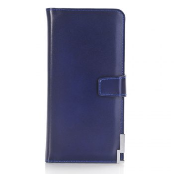 purse Pure Passport Cover Large Fresh Capacity Business Card Holder Natural Wallets for Female Useful Long-Lived Purse - BLUE BLUE