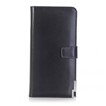 purse Pure Passport Cover Large Fresh Capacity Business Card Holder Natural Wallets for Female Useful Long-Lived Purse - BLACK BLACK