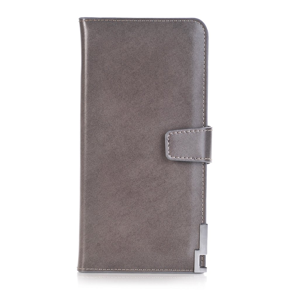 purse Pure Passport Cover Large Fresh Capacity Business Card Holder Natural Wallets for Female Useful Long-Lived Purse - GRAY