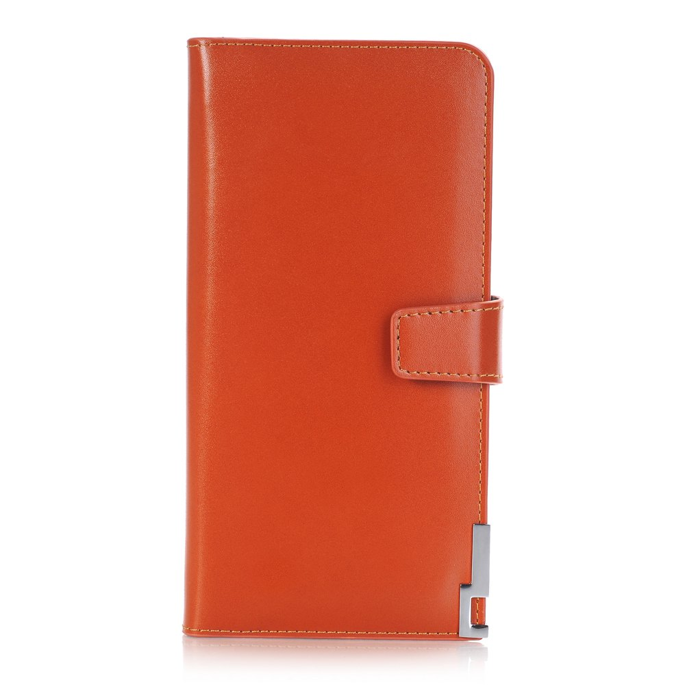purse Pure Passport Cover Large Fresh Capacity Business Card Holder Natural Wallets for Female Useful Long-Lived Purse - ORANGE