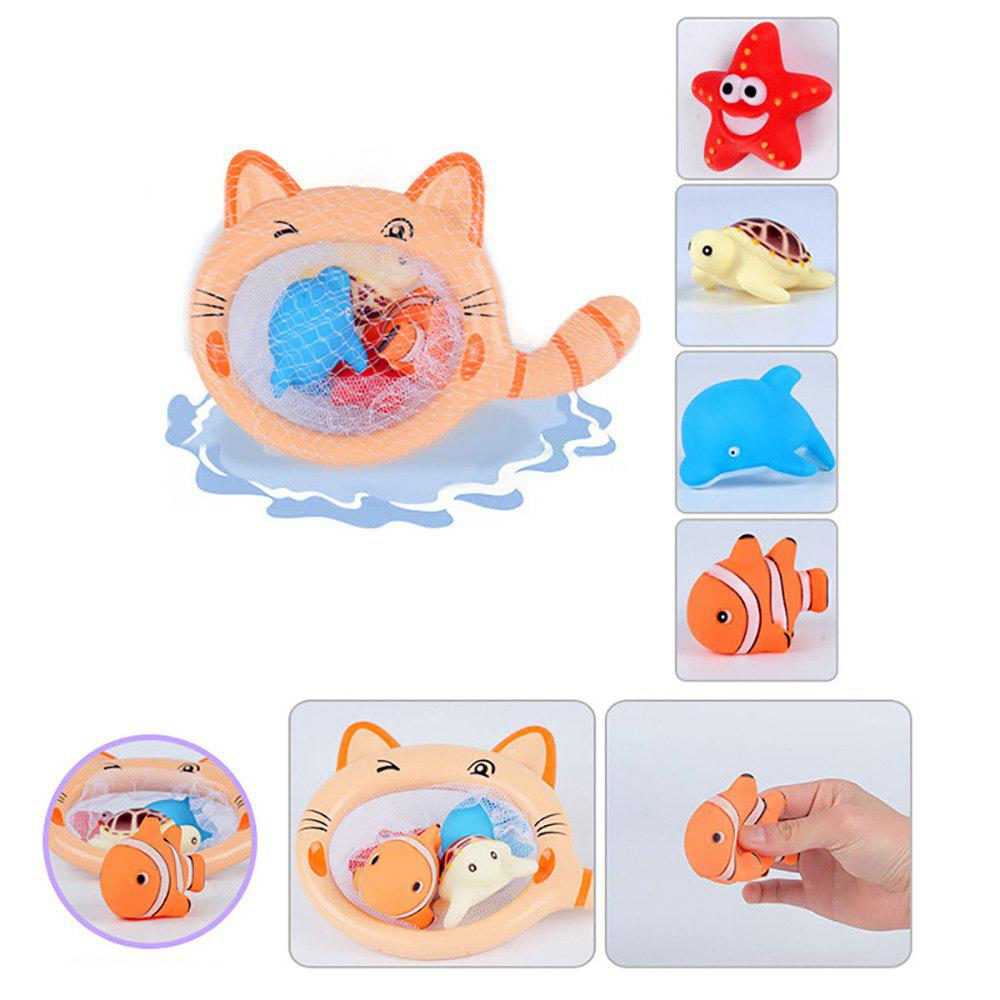 Fish Bath Small Animal Squeezed Water Toys - BUTTERCUP
