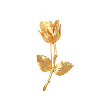 Vintage Rose Brooches for Women Elegant Brooches & Pins High Quality Fashion Jewelry Copper Brooch - GOLDEN GOLDEN
