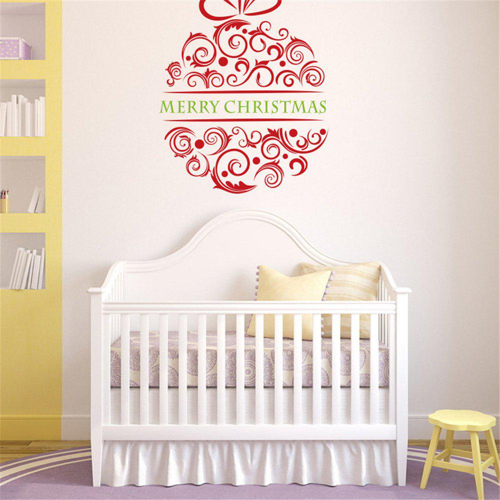 M-0 3D Creative Christmas Tree Glass Background Decorative Removable PVC Wall Sticker cka1006 christmas tree snowflake pattern bedroom wall decorative sticker red golden white