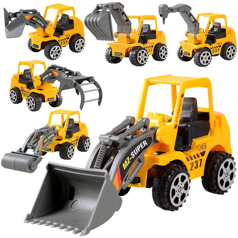 Friction Dumper Bulldozers Forklift Tank Excavator Cars 3 Construction Vehicles Truck 1:72 Beach Toys et 165 mcu 24 48v electronic throttle for forklift stacker pallet truck
