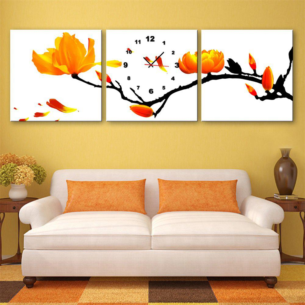 2018 Special Design Frameless Paintings Yellow Plum Flower Print ...