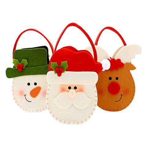 3pcs Good Quality Christmas Candy Bags Gift Bags - COLORMIX