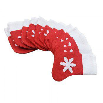 6pcs Good Quality Christmas Snowflake Knife And Fork Bags - COLORMIX