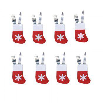6pcs Good Quality Christmas Snowflake Knife And Fork Bags - COLORMIX COLORMIX
