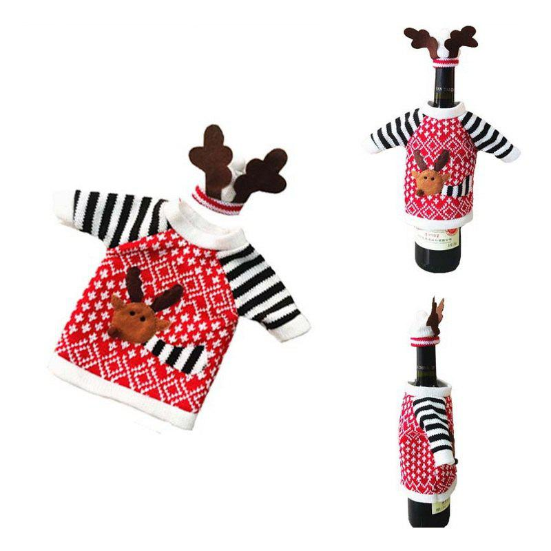 1pc Good Quality Christmas Bottle Sleeve - COLORMIX