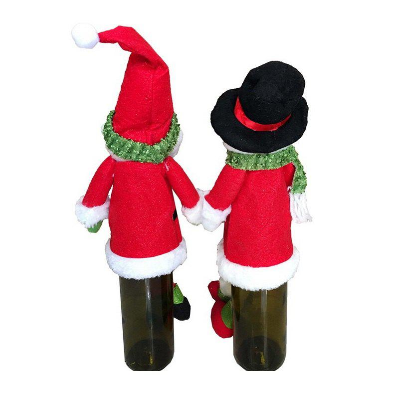 2pcs Good Quality Christmas Wine Bottle Slipcovers - COLORMIX