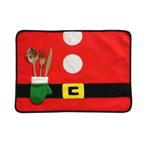 4pcs Good Quality Christmas Placemat Meal Mat - COLORMIX