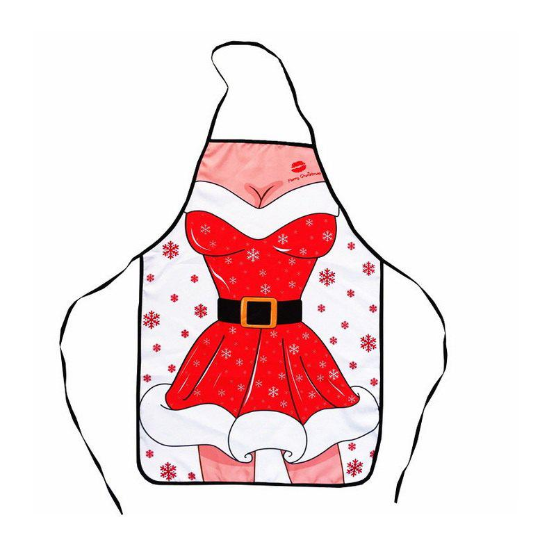 1pc Good Quality Christmas Sex Girl Apron - COLORMIX