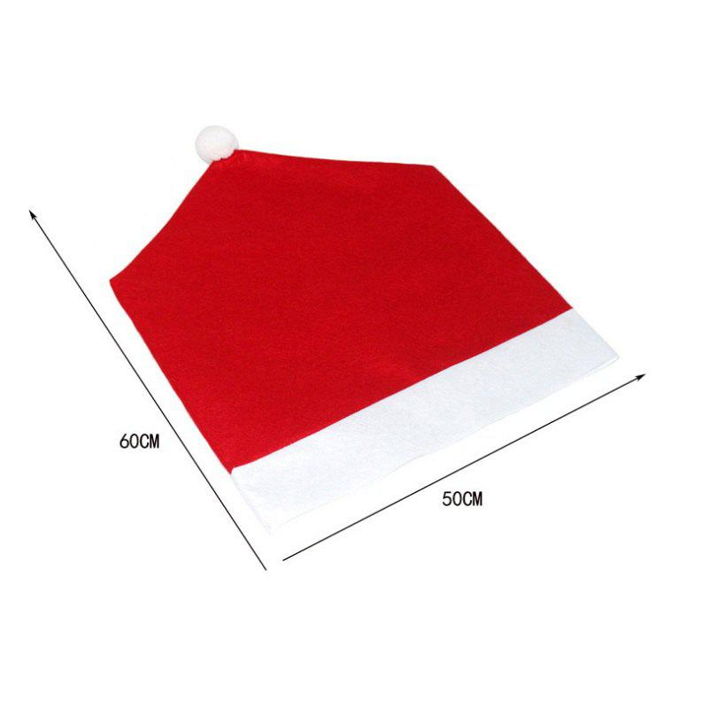 4pcs Good Quality Christmas Chair Covers - RED