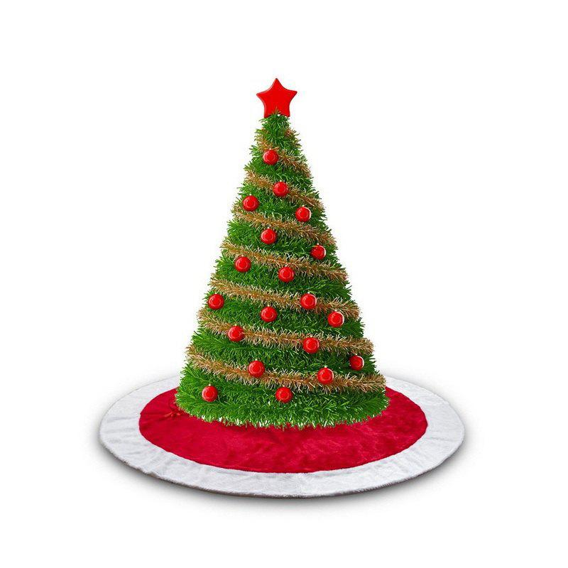 1pc Good Quality Christmas Tree Skirt 100cm - RED/WHITE