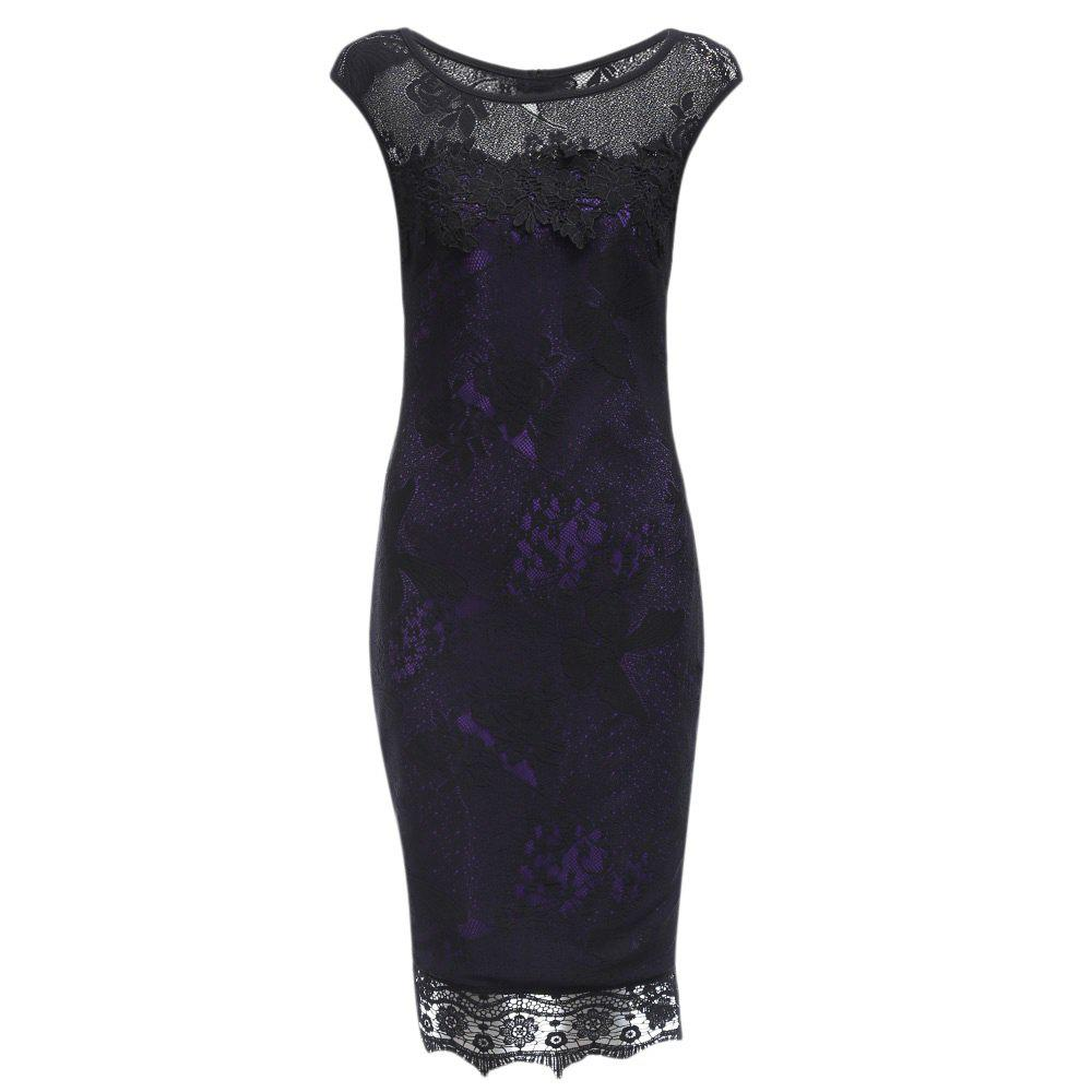 New Style Women Summer Lace  Crochet 2017 Butterfly Party Bodycon Evening Pencil Dress
