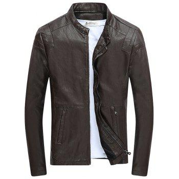 Autumn Winter Coat Men Leather Jacket Zipper