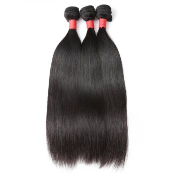 Brazilian Silky Straight Virgin Human Hair Weave Exention 3 Pieces 8 inch - 28 inch - BLACK 12INCH*12INCH*12INCH