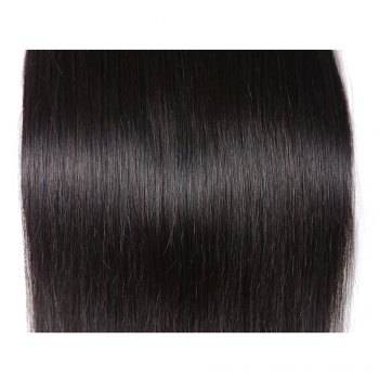 Brazilian Silky Straight Virgin Human Hair Weave Exention 3 Pieces 8 inch - 28 inch - BLACK 14INCH*14INCH*14INCH