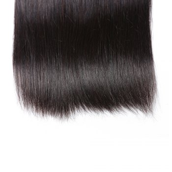 Brazilian Silky Straight Virgin Human Hair Weave Exention 3 Pieces 8 inch - 28 inch - BLACK 24INCH*26INCH*26INCH