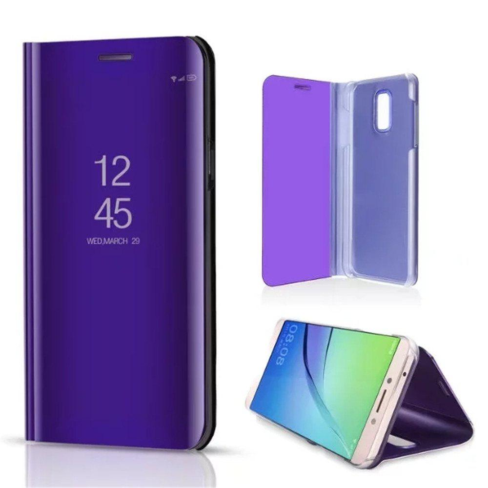Vertical Mirror Bracket Triad Cases for Samsung Galaxy J7 Plus - PURPLE