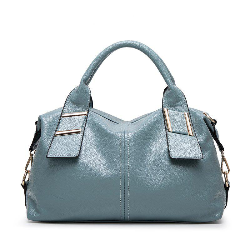 Ladies Fashion Wild Boston Handbag - WINDSOR BLUE