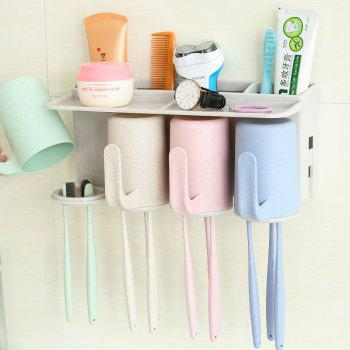Bathroom Accessories Suction Cup Toothbrush Toothpaste Tooth Mug Holder - MULTI multicolor