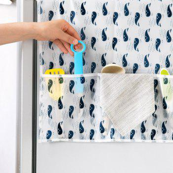 Fabric Dustproof Refrigerator Cover Sheet Hanging Storage Bag - BLUE