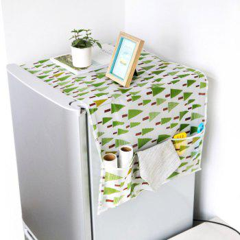 Fabric Dustproof Refrigerator Cover Sheet Hanging Storage Bag - GREEN GREEN