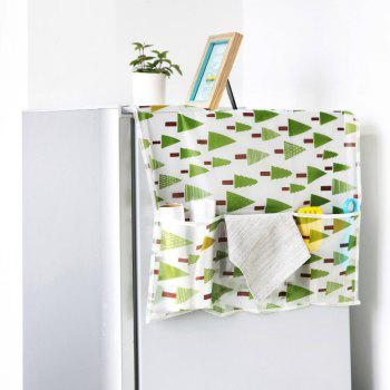 Fabric Dustproof Refrigerator Cover Sheet Hanging Storage Bag -  GREEN