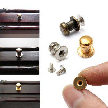 15PCS Mini Jewelry Box Chest Case Drawer Cabinet Door Pull Metal Knob Handle - SILVER