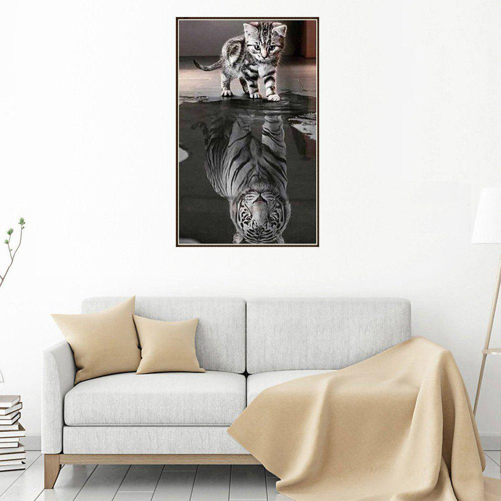 Reflection Cat Prints Diamond Paintings - COLORMIX 1PC