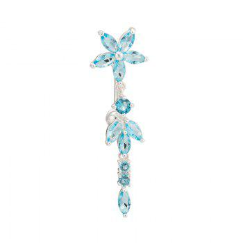 KUNIU Tassel Double Petal Zircon Navel Ring