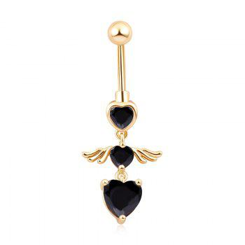 KUNIU Angel Wing Fine Zircon Navel Ring