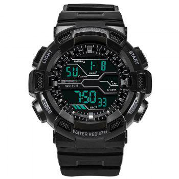 Men Large Dial Waterproof Personalized Electronic Fashion Outdoor Sports Watches - BLACK BLACK