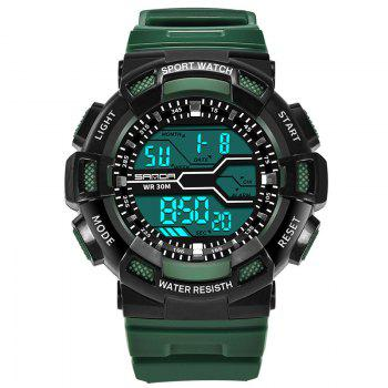 Men Large Dial Waterproof Personalized Electronic Fashion Outdoor Sports Watches - ARMYGREEN ARMYGREEN