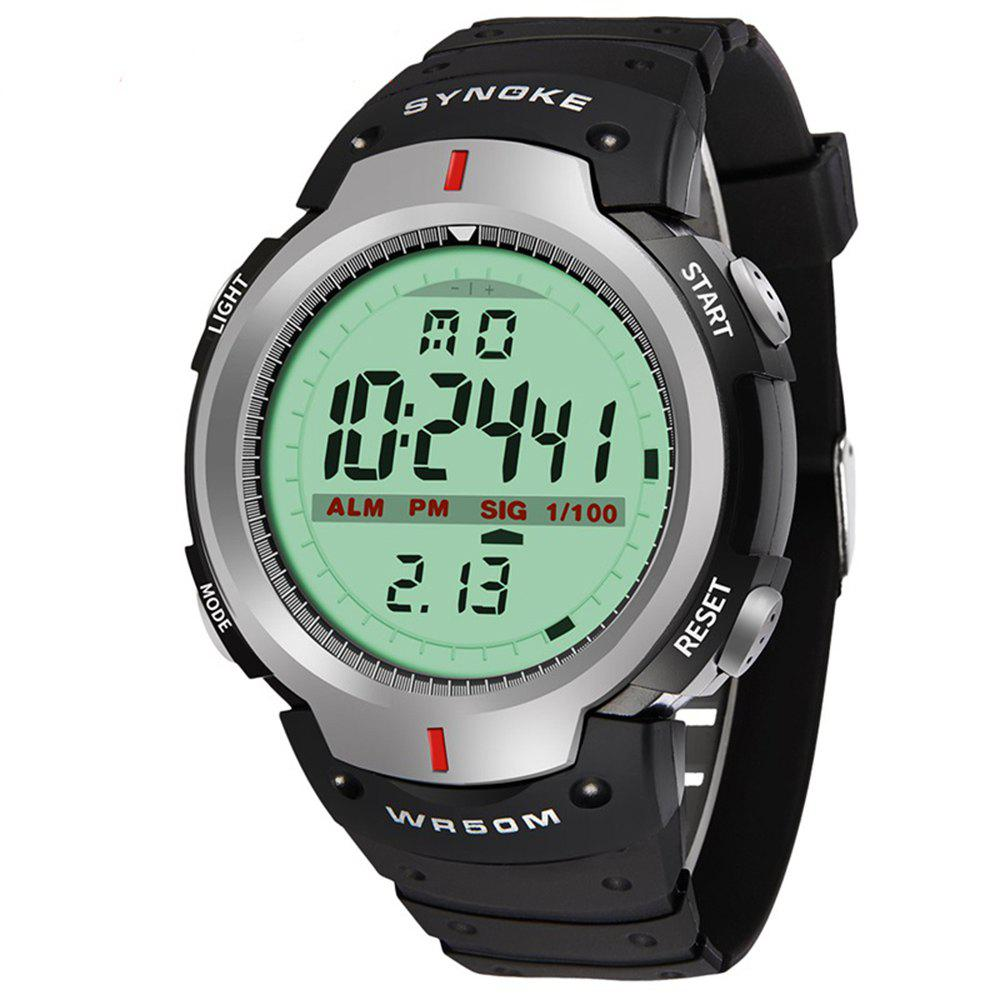 Sports Outdoor Waterproof Men Digital  Watch - GRAY