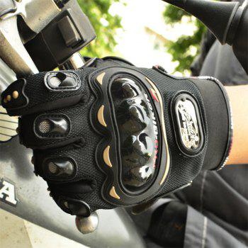 Fashion Motorcycle Glove Outdoor Sports Full Finger Knight Riding Motorbike Breathable Mesh Fabric - BLACK M