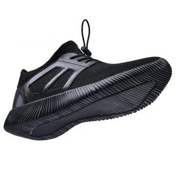 Men'S Autumn and Winter Shoes Breathable Lightweight Woven Sneakers Casual Shoes - BLACK 44